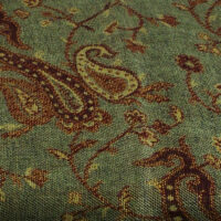 #17LtGreen-GoldPaisley