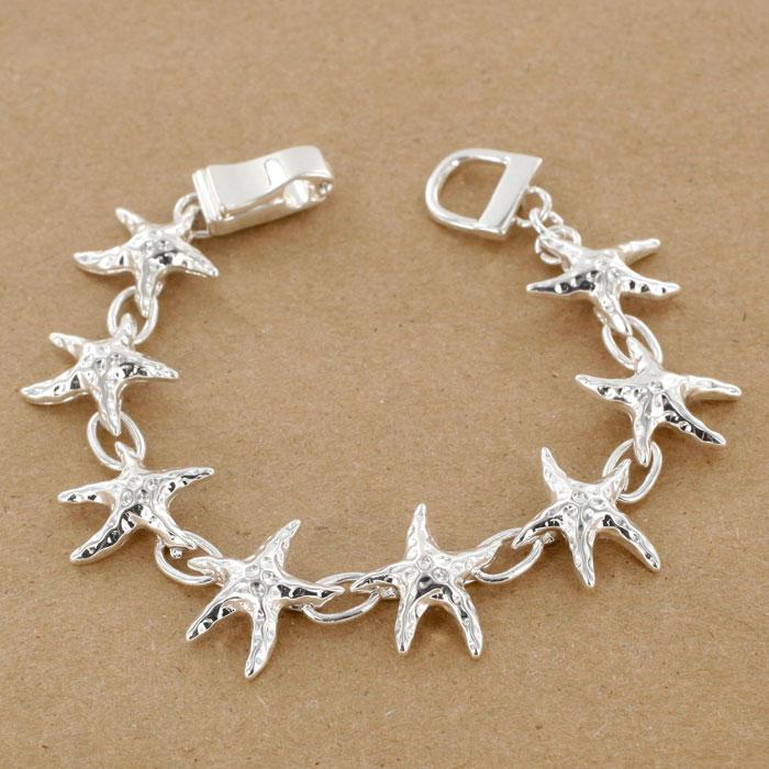 Mic Ab7263 S Silver Starfish Bracelet
