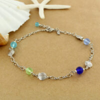 dangle product buy anklet anklets cobalt blue edited sea glass online