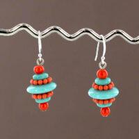 1037-SP Vintage Lucite Earrings