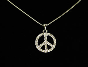 LCY-AP-368 Peace Sign Necklace
