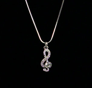 LCY-AN-00454 G-Clef Necklace