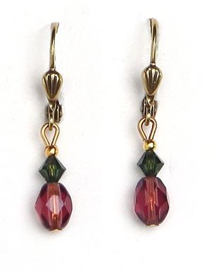 MPNE6 Glass Dangle Earring