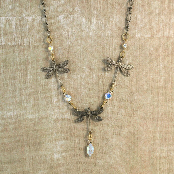 1102N Dragonfly Necklace