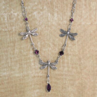 1102N-SP Dragonfly Necklace